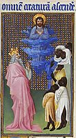 David Imagines Christ Elevated Above All Other Beings, limbourg