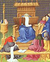 Diocrès Expounding the Scriptures, c.1408, limbourg