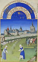 Fascimile of June: Haymaking, limbourg