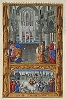 The Holy Sacrament [of the Eucharist], 1416, limbourg