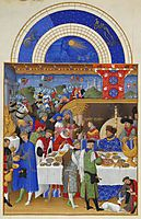 January: Banquet Scene, limbourg