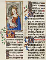 The Madonna and the Child, limbourg