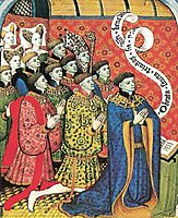 Miniature of the Earl of Westmorland with His Twelve Children, limbourg