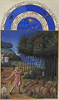 November: Feeding Acorns to the Pigs, limbourg