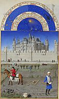 October: Sowing the Winter Grain, limbourg