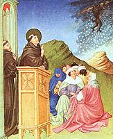 St. Anthony of Padua Stilling a Storm, 1408, limbourg