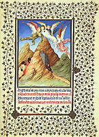 St. Catherine-s Body Carried to Mt. Sinai, c.1408, limbourg