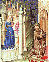 St. Jerome Tempted by Dancing Girls, c.1408, limbourg