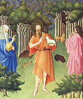 St. John the Baptist in the Wilderness, c.1408, limbourg