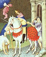 St. Martin with a Beggar, c.1408, limbourg