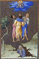The Sons of Core Thank God for Their  Salvation, limbourg