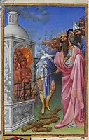 The Three Hebrews Cast into the Fiery Furnace, limbourg