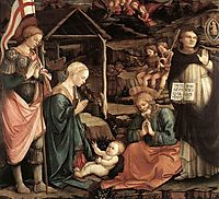 Adoration Of The Child With Saints, 1465, lippi