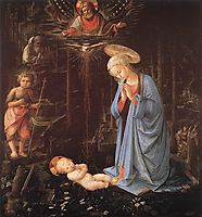 The Adoration of the Infant Jesus, 1459, lippi
