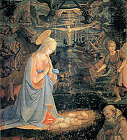 The Adoration of the Infant Jesus, 1465, lippi