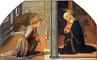 Annunciation, 1435, lippi