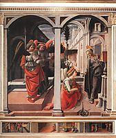 Annunciation, 1445, lippi