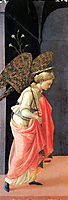 Annunciation, left wing, 1430, lippi