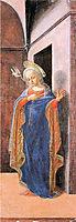 Annunciation, right wing, 1430, lippi