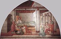 Birth and Naming St. John, 1465, lippi