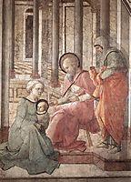 Birth and Naming St. John (detail), 1465, lippi