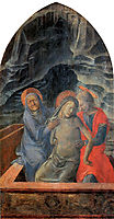 Dead Christ Supported by Mary and St. John the Evangelist, lippi