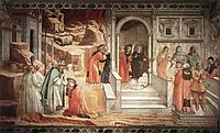Disputation in the Synagogue, 1465, lippi