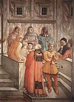 Disputation in the Synagogue  (detail), 1465, lippi