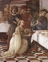 The Feast of Herod: Salome-s Dance (detail), 1464, lippi