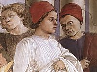 The Funeral of St. Stephen (detail), c.1460, lippi