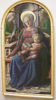 Madonna and Child Enthroned with Two Angels, lippi