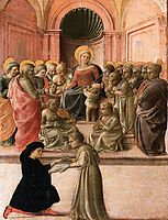 Madonna and Child with Saints, Angels and a Donor, c.1437, lippi