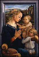 Madonna and Child with two Angels, 1465, lippi