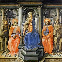 Madonna Enthroned with Saints, c.1445, lippi