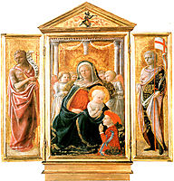 Madonna of Humility with Angels and Donor, lippi