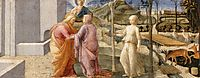 Meeting of Joachim and Anne at the Golden Gate, c.1445, lippi