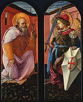 Saint Anthony and Archangel Michael , 1456, lippi
