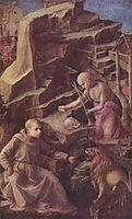 St. Jerome in the desert, 1456, lippi