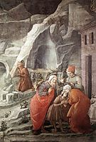St. John Taking Leave of his Parents (detail), 1465, lippi