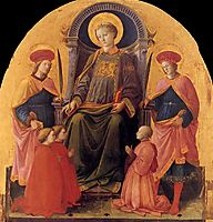 St. Lawrence Enthroned with Saints and Donors, 1453, lippi
