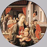 Virgin with the Child and Scenes from the Life of St. Anne, lippi