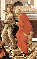 Virgin with the Child and Scenes from the Life of St. Anne (detail), lippi