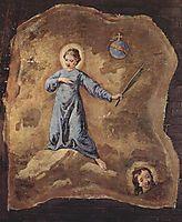 Fresco in San Pantalon in Venice, Scene: Holy Martyr, fragment, 1745, longhi