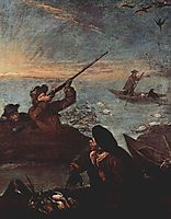 Hunters Shooting at Ducks, longhi