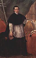 Portrait of Bishop Benedetto Ganassoni, 1774, longhi
