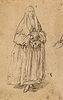Standing Woman Holding a Muff Facing Right, 1760, longhi