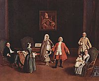 The Venetian Family, 1765, longhi