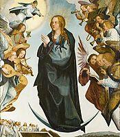 Assunção da Virgem ladeada de anjos músicos, lopes