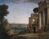 Aeneas and Dido in Carthage, 1675, lorrain