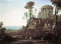 Apollo and the Muses on Mount Helicon, 1680, lorrain